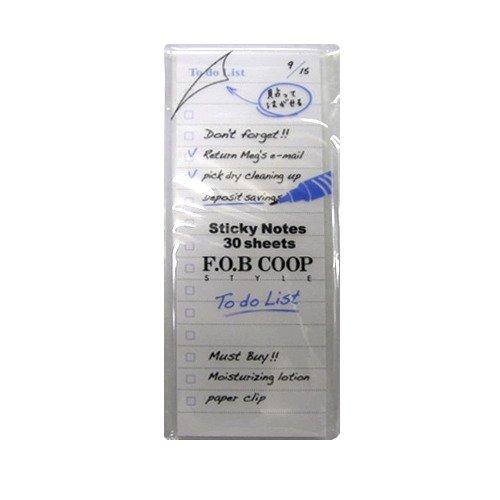 To Do リスト やることリストのお勧め!F.O.B COOP と無印良品のおしゃれ付箋
