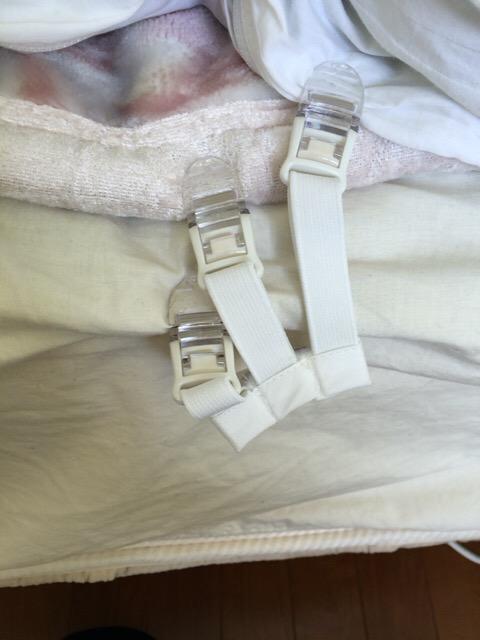 布団ずれおち防止にベッドガード?それともお布団ズレ落ちクリップ?